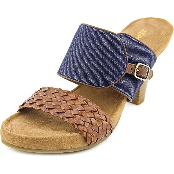 Aerosoles Womens HERO Fabric Open Toe Casual Slide Sandals