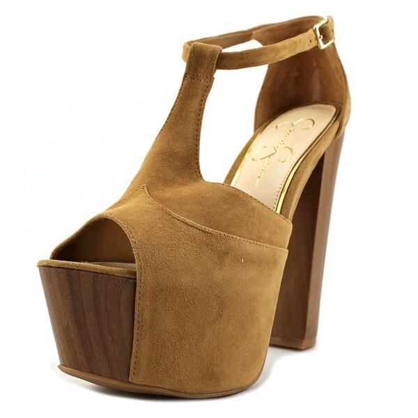 8b8e8a27276 Shop Jessica Simpson Dany Women Open Toe Suede Brown Platform Heel ...