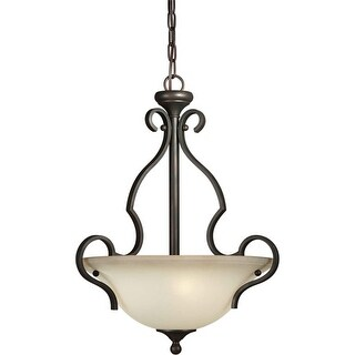 Forte Lighting 2446-03 17Wx22.5H 3 Light Bowl Pendant