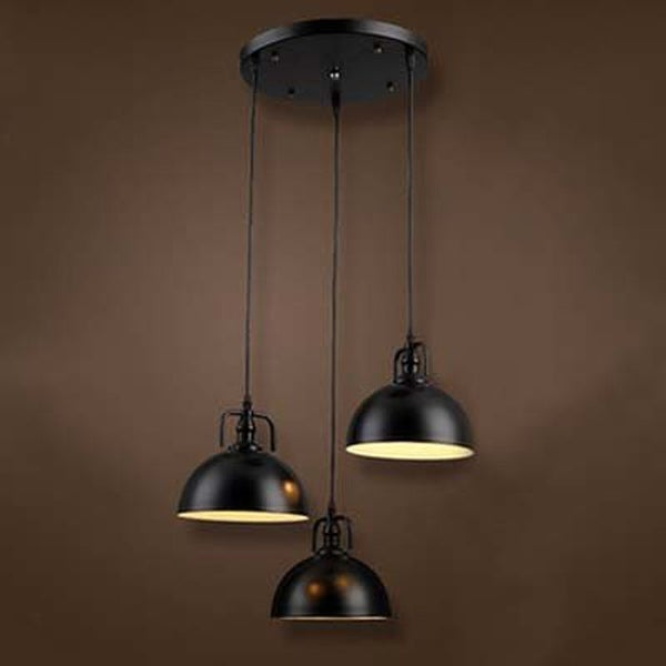 Shop 3 Light Frosted Diffuser Industrial Pendant Light