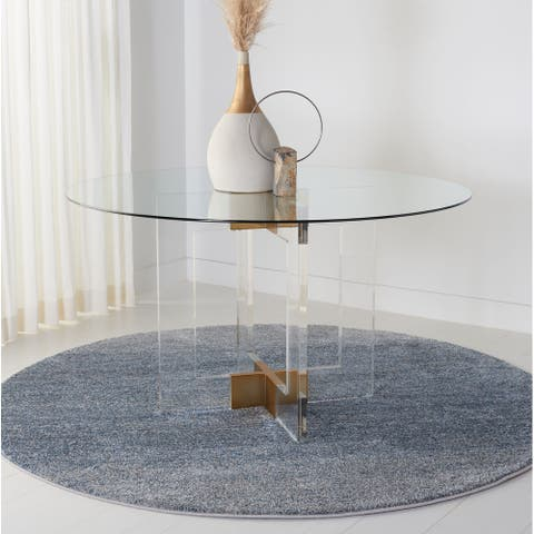 SAFAVIEH Couture Xevera Round Glass Dining Table - Clear