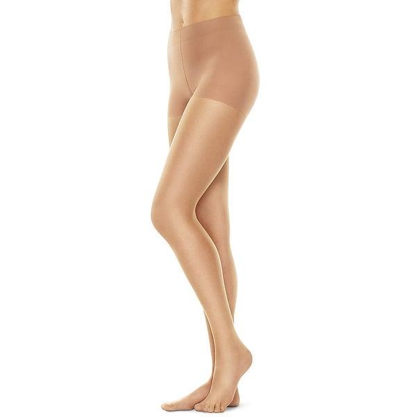 9227b919451 Hanes Perfect Nudes™ Run Resistant Tummy Control Girl Short Hosiery - Size  - M -