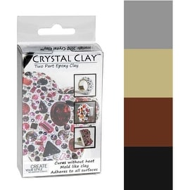 Crystal Clay 2-Part Epoxy Clay Kit - Metallics Color Mix 100g