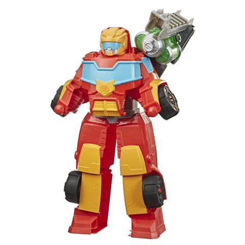 Transformers Rescue Bots Academy Rescue Power Hot Shot, 14-Inch Collectible Action Figure, Converting Robot Toy For Kids