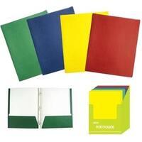 Flomo 1916115 Twin Pocket 3-Prong Paper Portfolio Folders - Case of 48