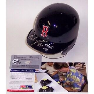 Wade Boggs Autographed Hand Boston Red Sox Mini Helmet  PSADNA