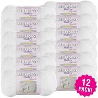 Bernat Baby Sparkle Yarn - 12/Pk-White Sparkle