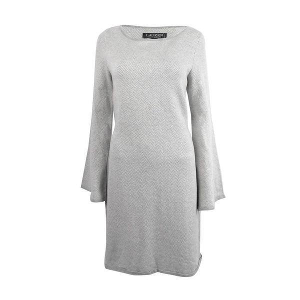 Lauren by Ralph Lauren Womens Small Chevron Sweater Dress