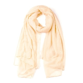 Soft Lightweight Long Scarves With Solid Color Shawl For Women Men Beige