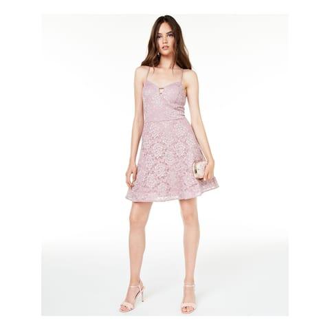 BCX Pink Spaghetti Strap Mini Dress 0