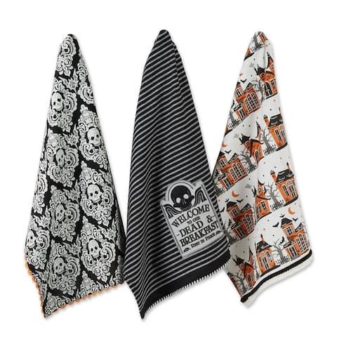 DII Halloween Embellished Dishtowels Set of 3