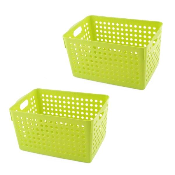 Shop Bathroom Plastic Rectangular Shape Hollow Out Design