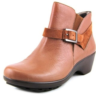 Easy Spirit Sontra Round Toe Leather Ankle Boot