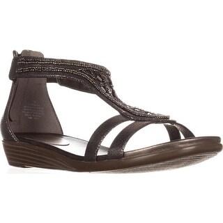 Easy Spirit Amalina T Strap Sandals, Pewter/Pewter