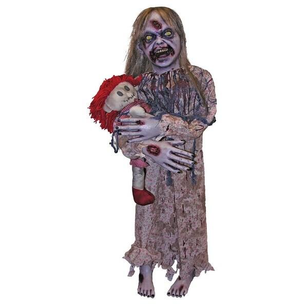 Zombie Girl Prop Halloween Decoration