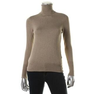 Zara Knit Womens Heathered Long Sleeve Turtleneck Top