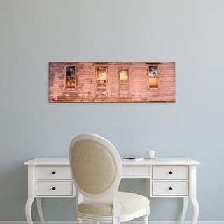 Easy Art Prints Panoramic Images's 'Facade of a farmhouse, Livingston County, Illinois, USA' Premium Canvas Art