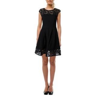 Lauren Ralph Lauren Womens Party Dress Knit Cut-Out