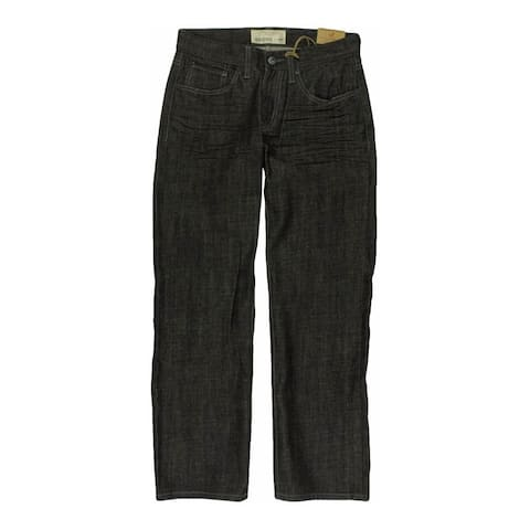 Ecko Unltd. Mens Core Raw Black Denim Relaxed Jeans