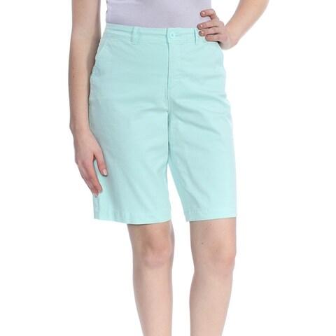 NYDJ Womens Aqua Mid Rise Short Size: 10