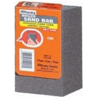 Allway Tools ASB-M Angled Sandbar Medium Grit, 1 Card