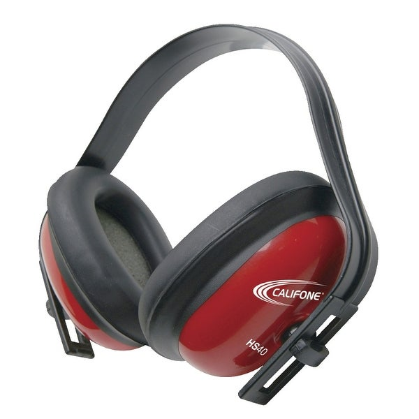 Califone HS40 26db Hearing Safe Hearing Protector Headphones for Kids (Red)