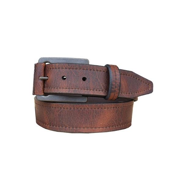 Vintage Bison Western Belt Mens Carson Leather Straps Saddle