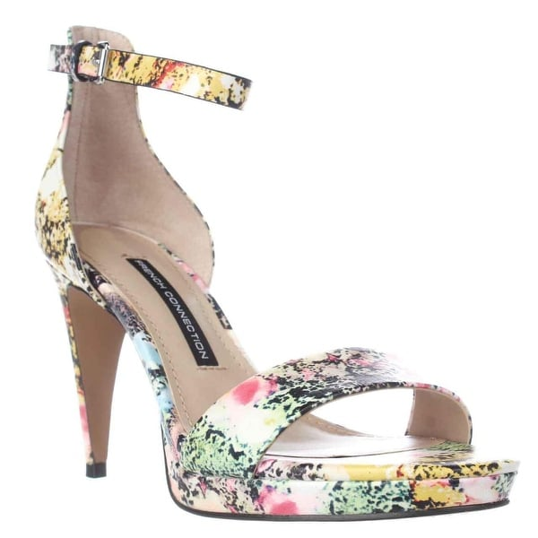 French Connection Nata Ankle Strap Sandals, Multi Color