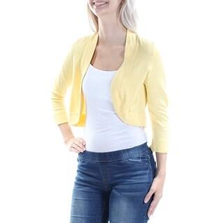 Womens Yellow Bolero Jacket Size 12
