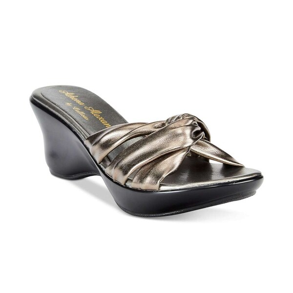 athena alexanderWomens Gaylenn Open Toe Casual Slide Sandals