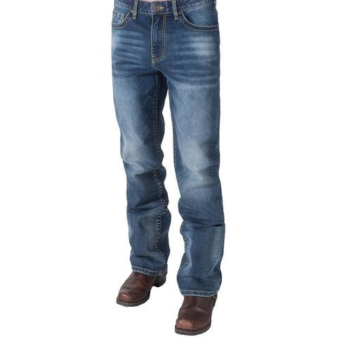 B. Tuff Western Jeans Mens Selvedge Bootcut Mid Rise Med