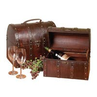 Treasure Chests Decoration Cherry Wood Set of 2 | Renovator's Supply