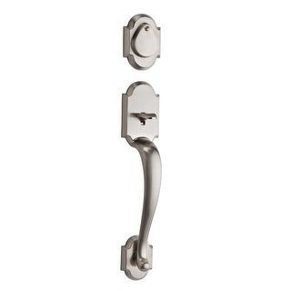 Kwikset 801AUHLIP-S  Austin Series Double Cylinder Door Handleset Exterior Pack Only Featuring SmartKey Technology