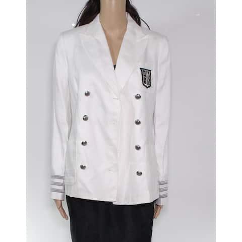 Lauren by Ralph Lauren Women's Jacket White Size 4 Basic Double Breast
