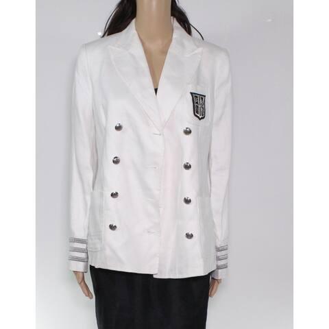 Lauren by Ralph Lauren Women's Jacket White Size 8 Basic Double Breast