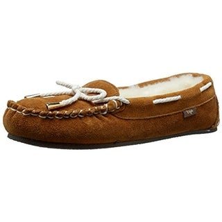 Dije California Womens Brittany Wool Suede Sheepskin Moccasin Slippers