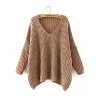 Stylish Women Knitted Long Sleeve Oversized Sweater