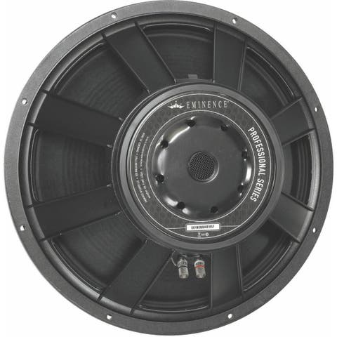 18-In Pro Woofer, 1600W Max, 8 Ohms W/Copper Voice Coil & Acrylic Wetlook Paper Cone
