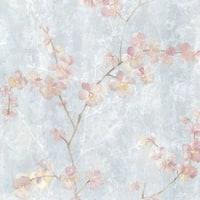 Brewster 347-20102 Chapman Blue Cherry Blossom Trail Wallpaper - N/A