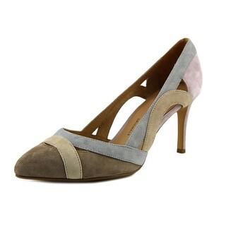 Nina Agenda Women  Pointed Toe Suede Multi Color Heels