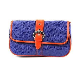 Hadaki HDK869 Women Canvas Clutch NWT - Blue