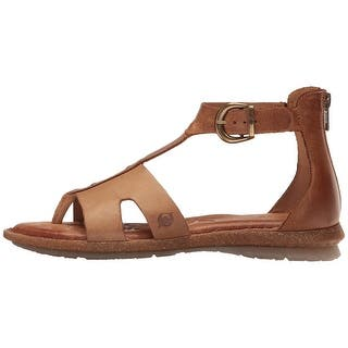 1a002e5f33c3 Born Womens Timina Leather Open Toe Casual T-Strap Sandals - 8