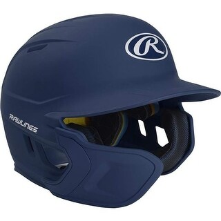 Rawlings Mach Extension Batting Helmet with Junior Left-Handed - Navy