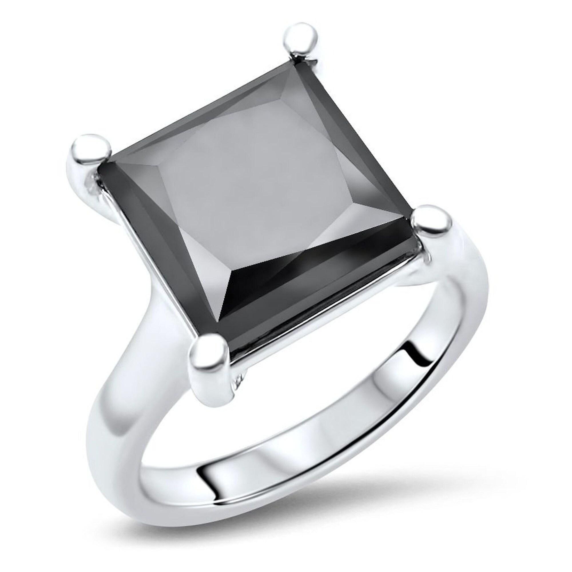 5.15 Ct Round Cut Diamond Engagement Wedding Ring Set 14K Real White Gold Over