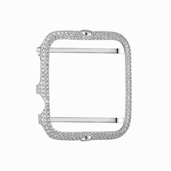 Apple Watch Sterling Silver Lab Diamond Case 42MM Sport Bezel Iced Out