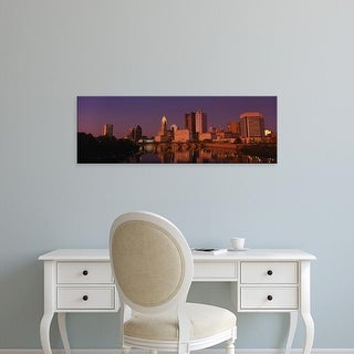 Easy Art Prints Panoramic Images's 'Buildings at the waterfront, Columbus, Ohio, USA' Premium Canvas Art