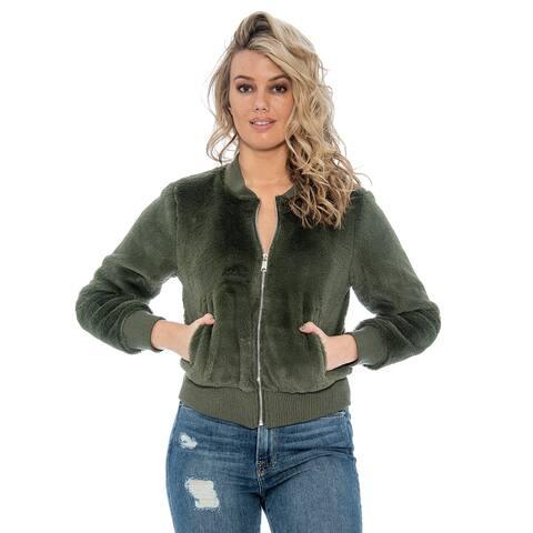 True Rock Women's Faux Fur Full Zip Jacket