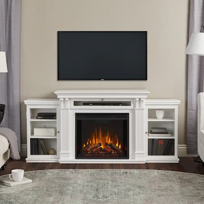 Calie White Media Electric Fireplace