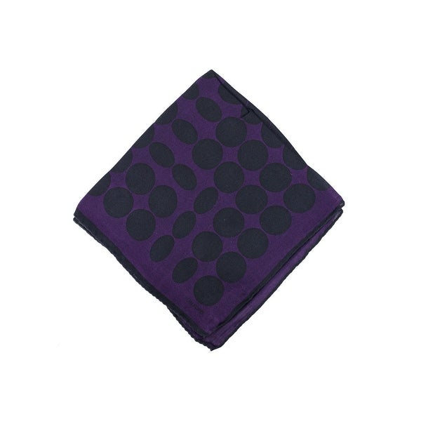Tom Ford Mens Purple Abstract Circle Silk Pocket Square
