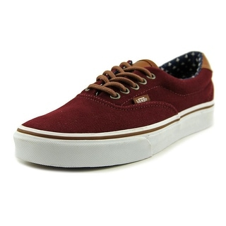 Vans Era 59 Women Round Toe Canvas Burgundy Skate Shoe